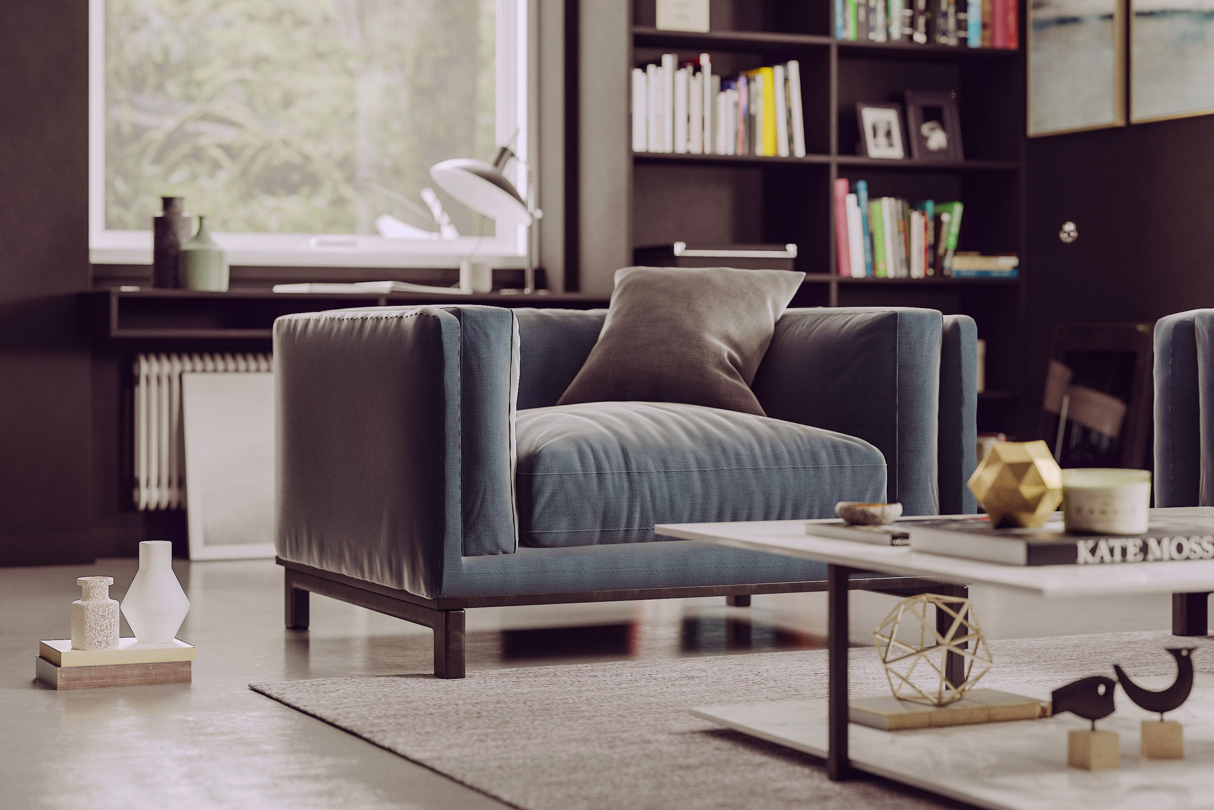3dsmax and V-Ray sofa designed and modeled by © Pasquale Scionti