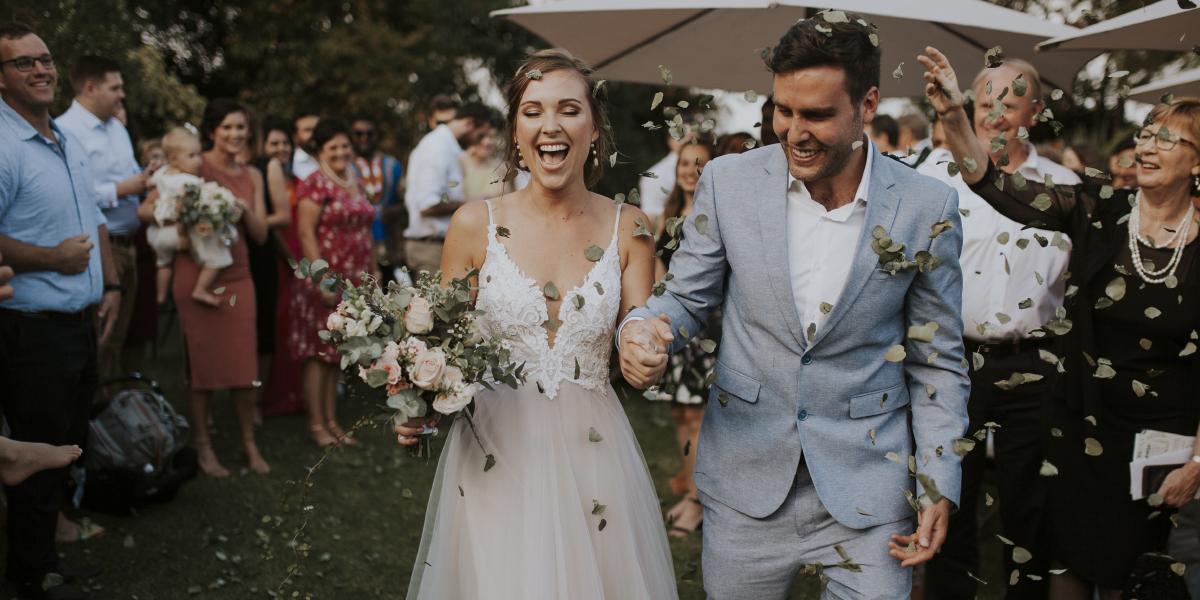 """Lise + Braden - A garden wedding that took place on the """"Fun"""" Breda family farm."""