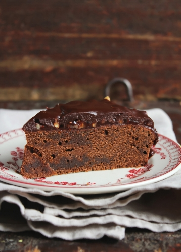 wheat and dairy free chocolate cake made with rapeseed oil