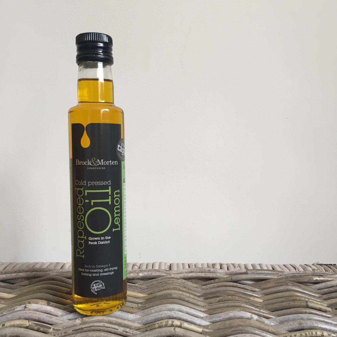 brock and morten lemon flavoured rapeseed oil