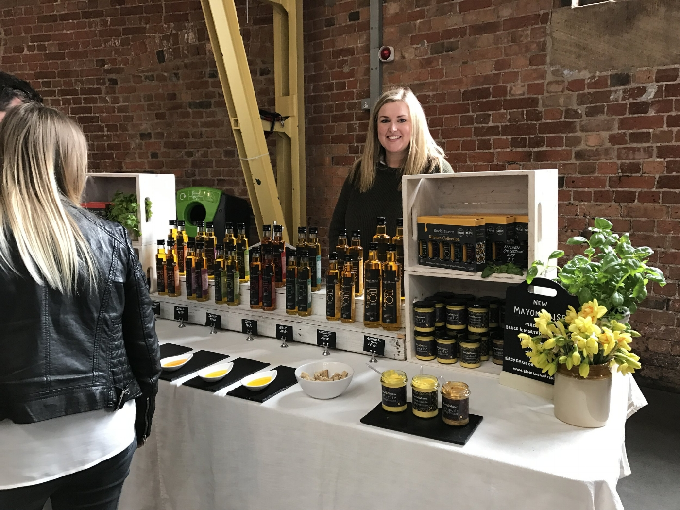 brock and morten rapeseed oil at events