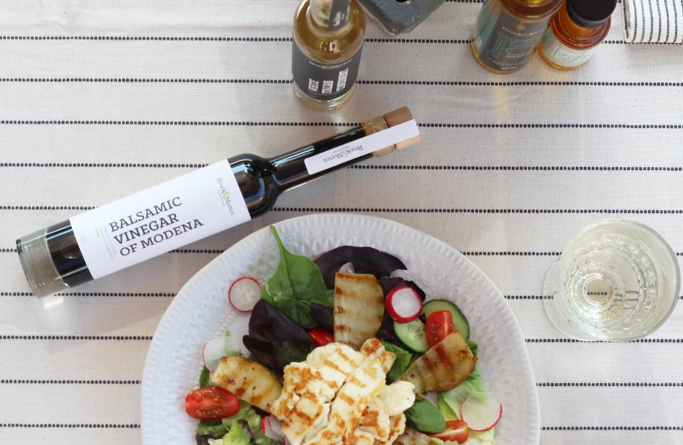 summer salad and balsamic recipe