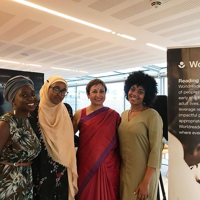#tb to the wonderful panel discussion hosted by @worldreader around cultural imports. It was a pleasure to speak to great women doing great things!  #literature #culture #literacy #reading  #storytelling #writers
