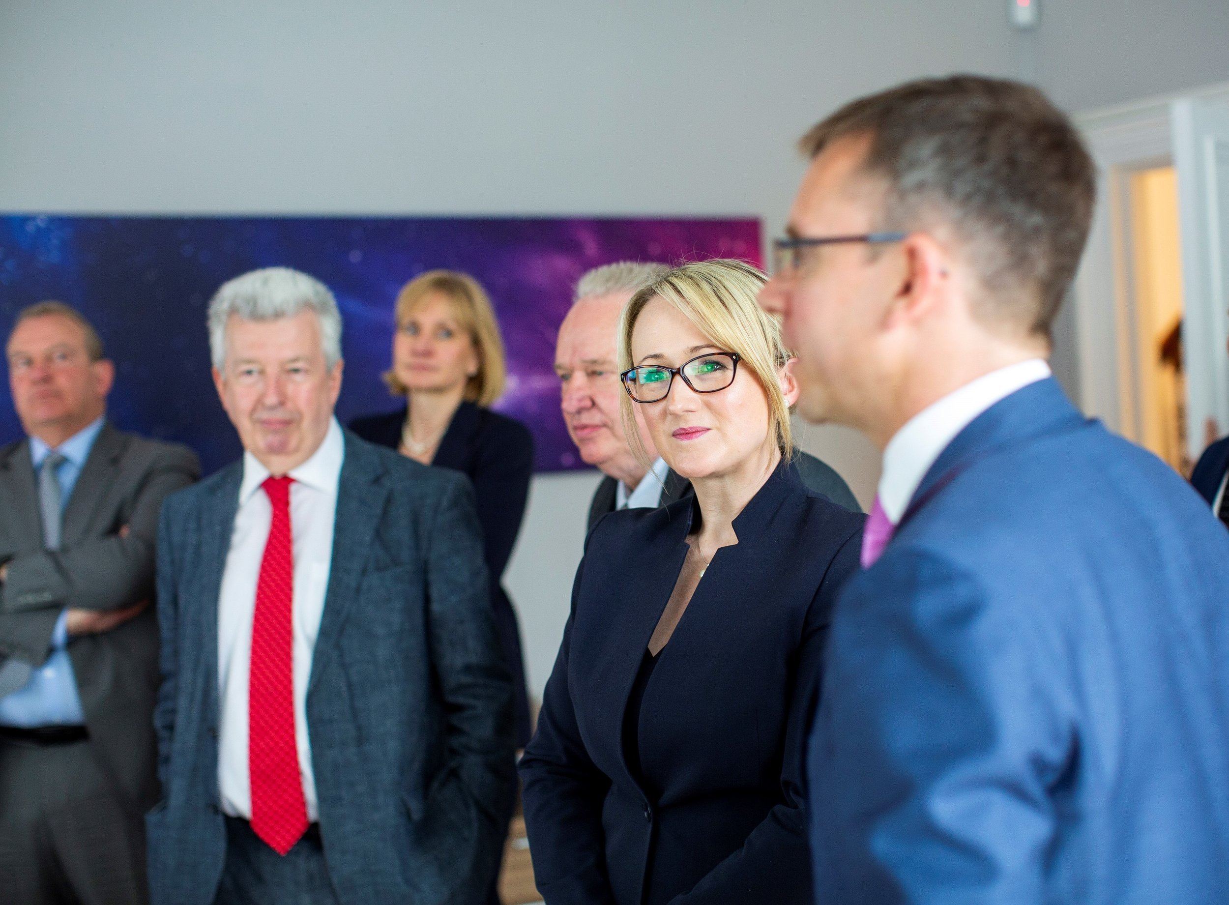 Rebecca Long-Bailey and Lewis MacDonald meet with Chris Ayres