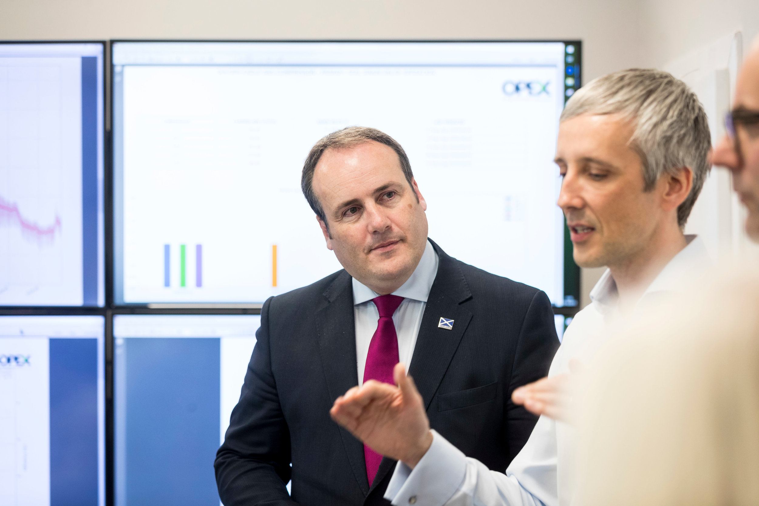 Paul Wheelhouse meets with OPEX's data scientists