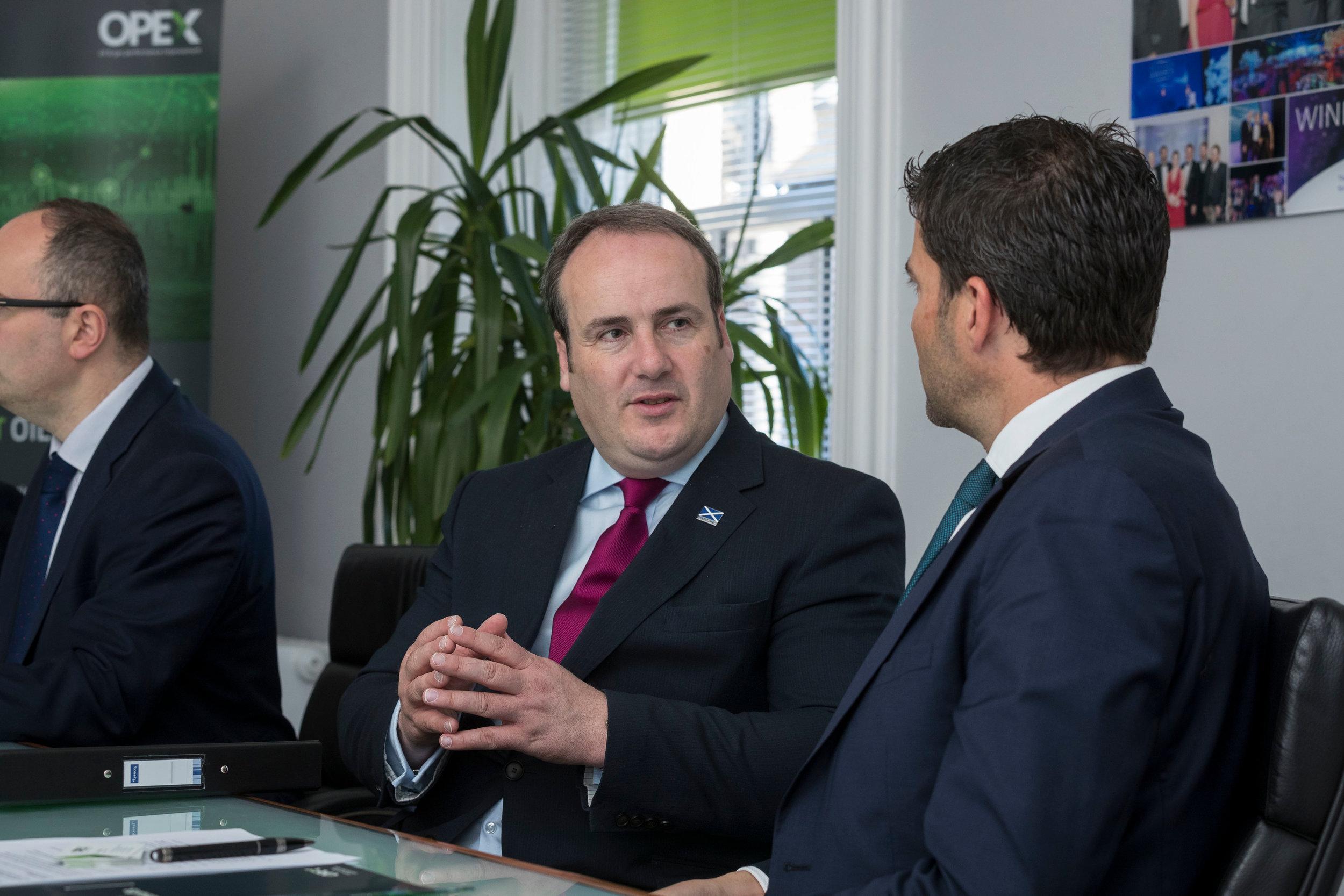 Jamie Bennett, CEO, briefs Scottish Energy Minister