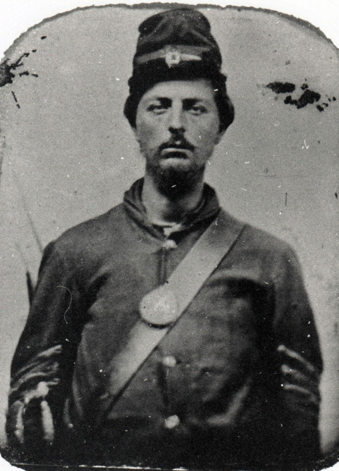 1st Sgt. Henry Seas of Co. D, 82nd Ohio. Enlisted Nov. 20, 1861. Wounded at Gettysburg, July 1, 1863. Died July 17, 1863. (Richard and Alma Fink Collection)