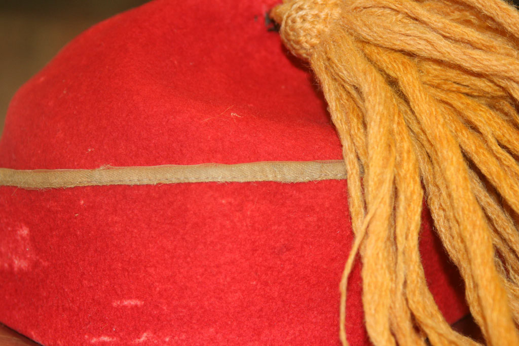 Unidentified issued-fez at Gettysburg NMP. (Courtesy of N.J. Sekela/Historic Clothiers)