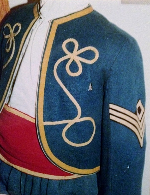 First sergeant's jacket from a private collection, ca 1865. (Photo by Jim Broomall)
