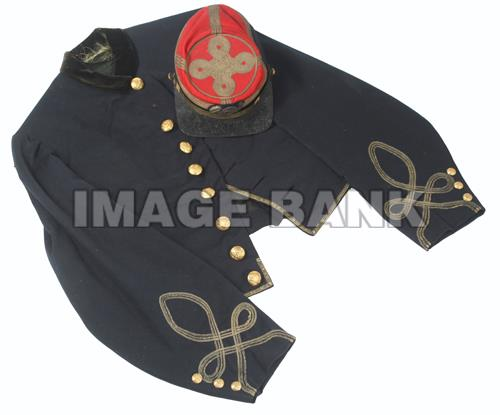 Officer's jacket and kepi of Capt. William Fowler, Co. C. (Don Troiani/Historical Image Bank)