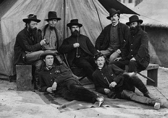 Engineers and draughtsmen at army headquarters in Petersburg, Va.