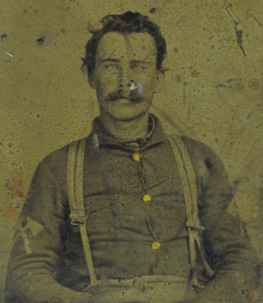 Figure 9: Unidentified Pioneer. Notice his variation chevrons – the triangular axe head is less widely represented in original examples.
