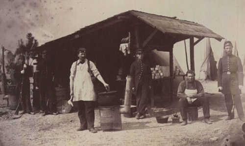 Cook's galley, Company H, 3rd N.H. Infantry, Hilton Head, 1862 (28)