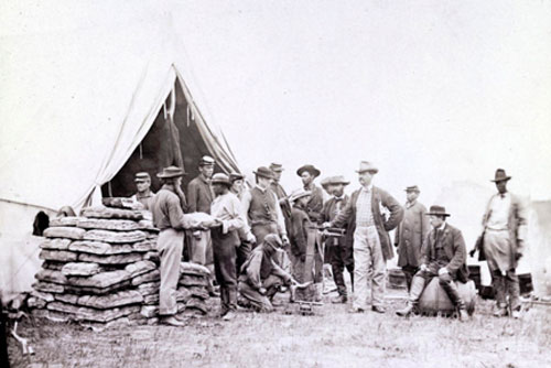 Commissary Tent at Headquarters of the Army of the Potomac near Fairfax Court House Va, June 1863 (67)