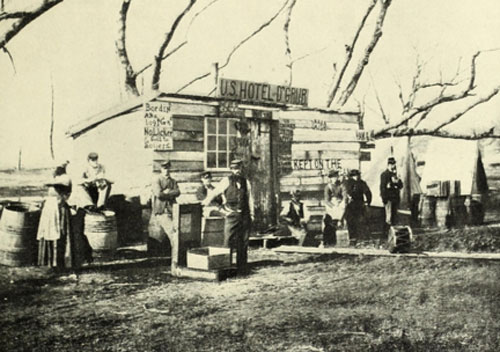 View of the Quartermaster's Store House, 159th Regiment New York, January 1, 1865 (68)