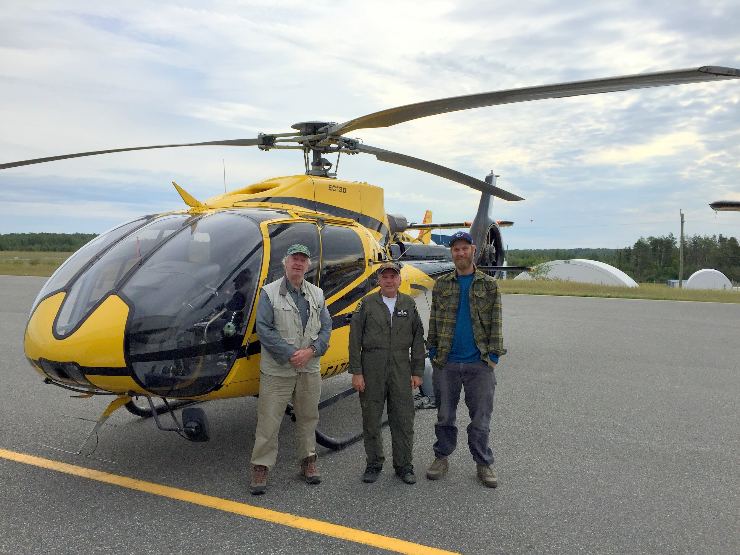 Aerial survey team (L-R): Guy Morrison, Dan Kennedy, Christian Friis.