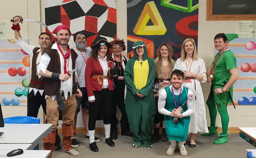 Throwing herself completely into the Maths departments Peter Pan tribute is Carla from Norwich, who was a Lost Boy (top row 3rd from right)