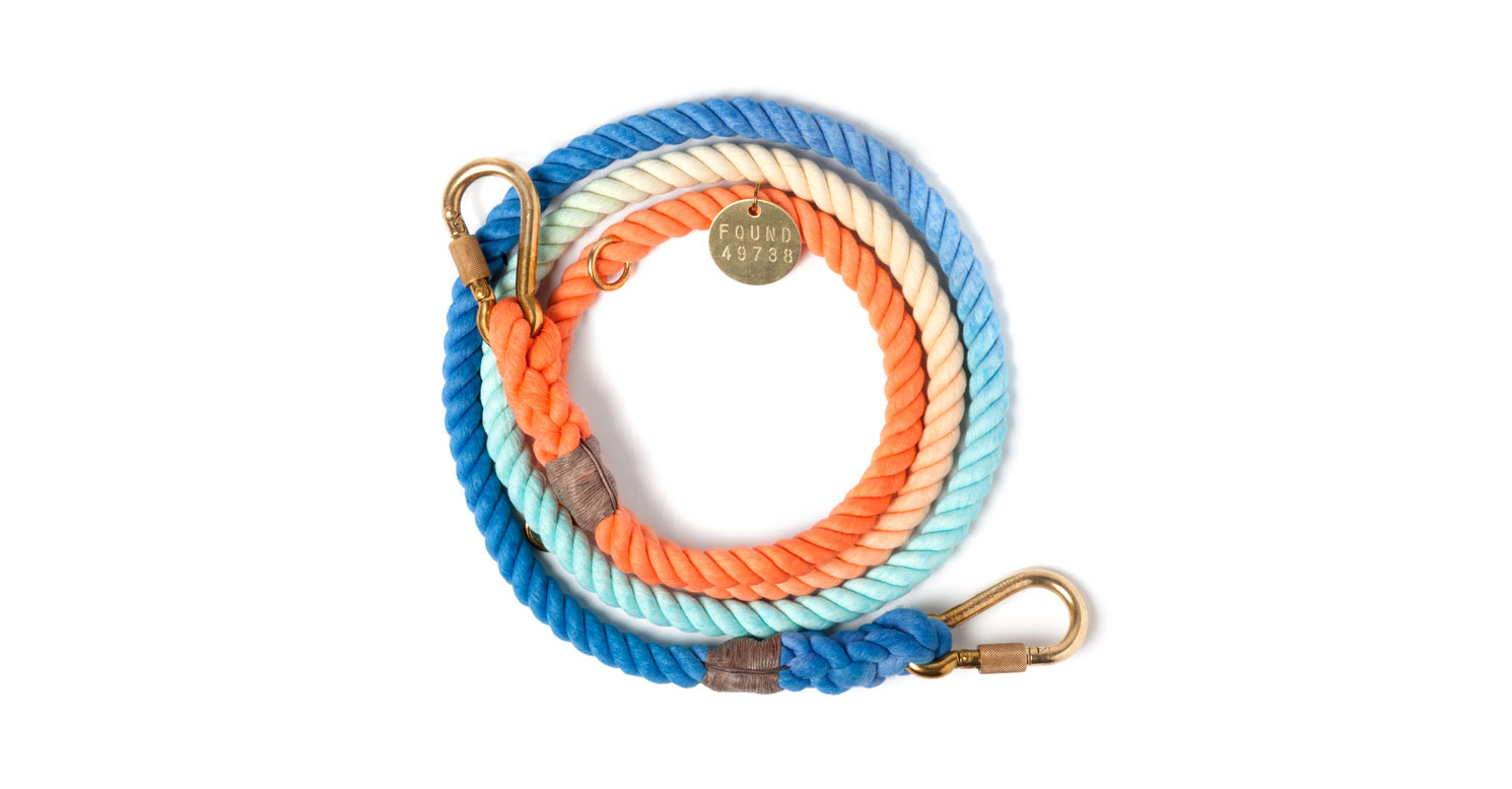 Sweet Pea Rope Leash by FOUND MY ANIMAL