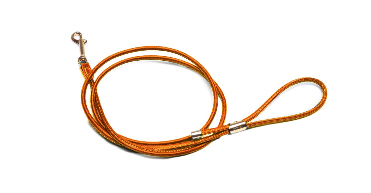 LA CINOPELCA | Leather Leash in Orange
