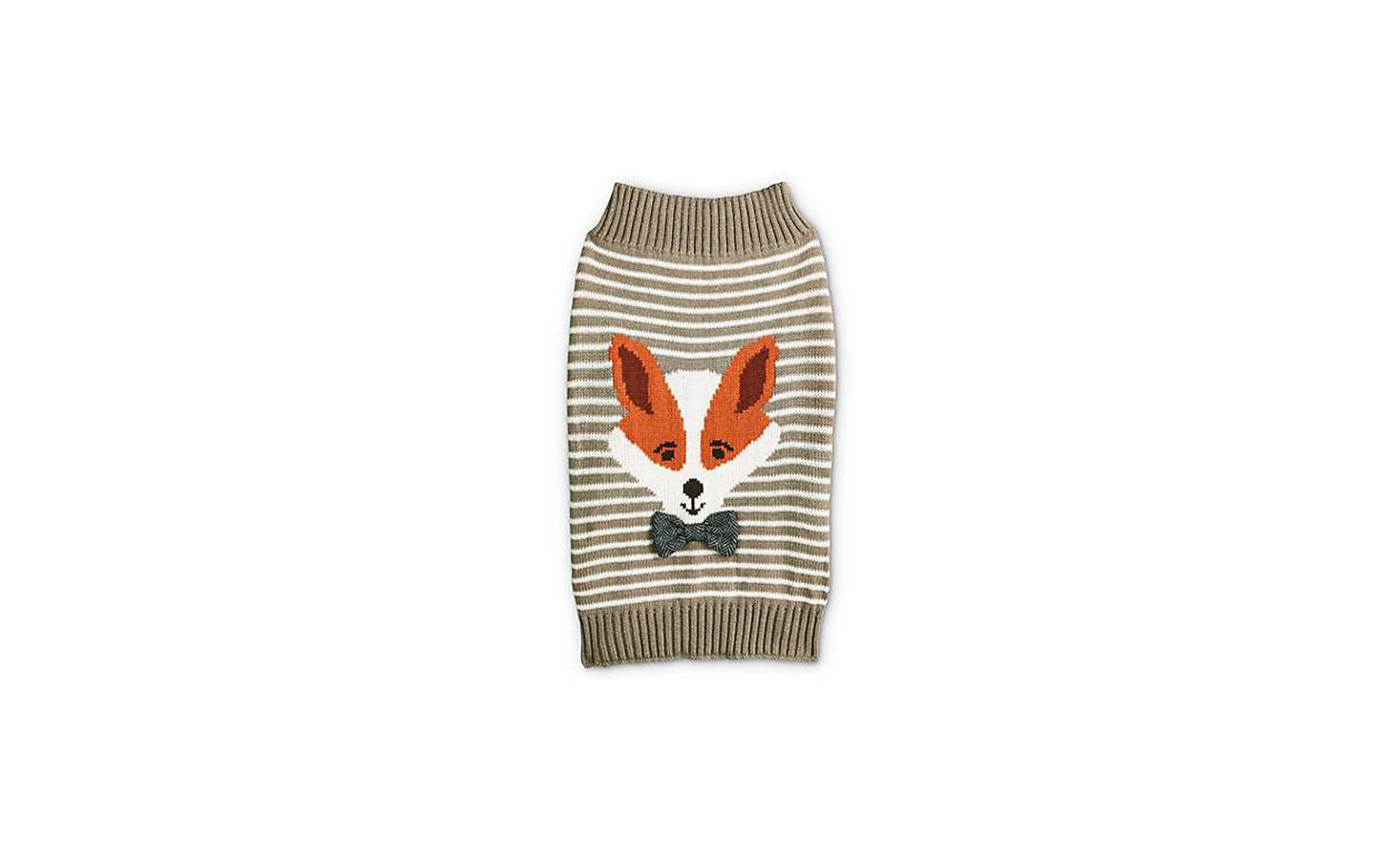 Bond & Co. Striped Fox Grey Dog Sweater