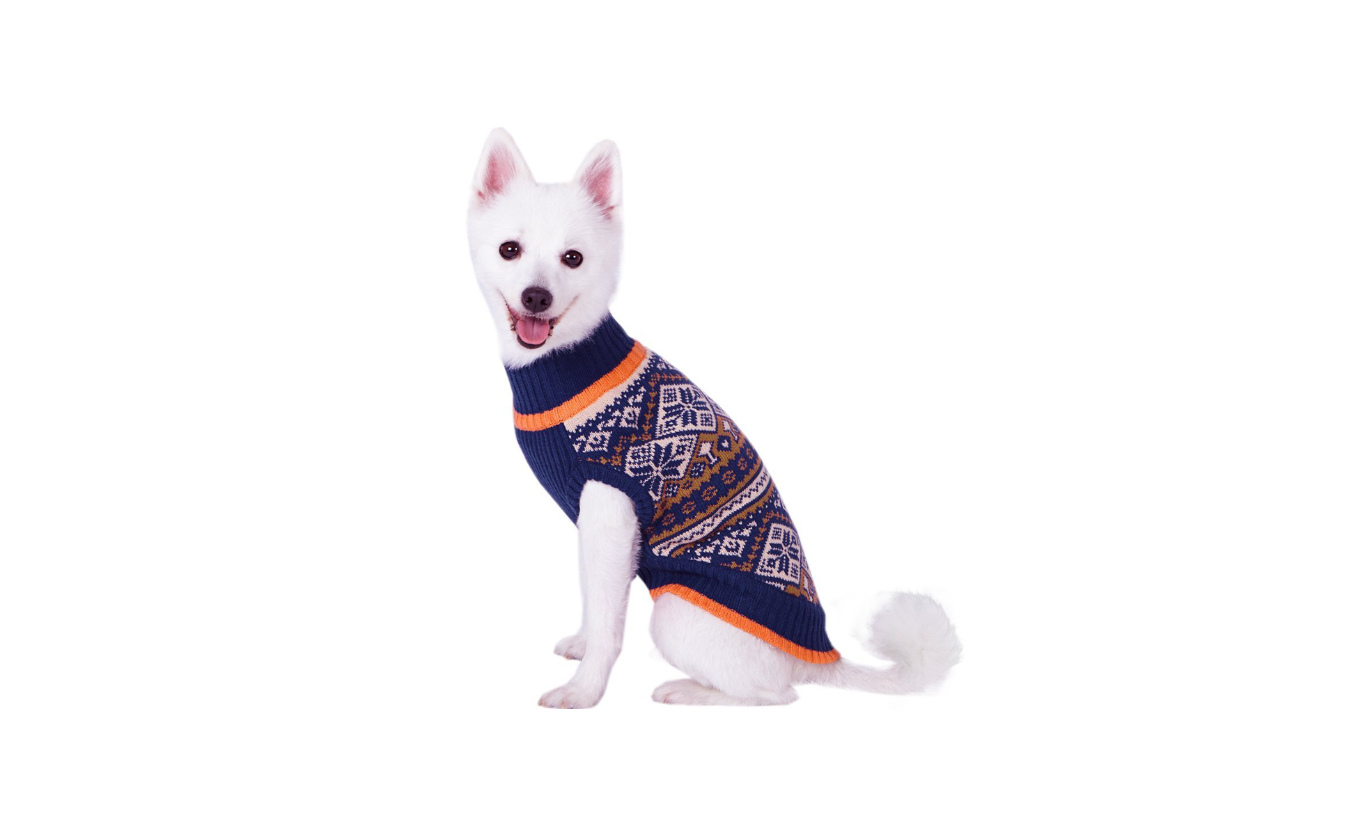 Blueberry Pet Nordic Fair Isle Sweater