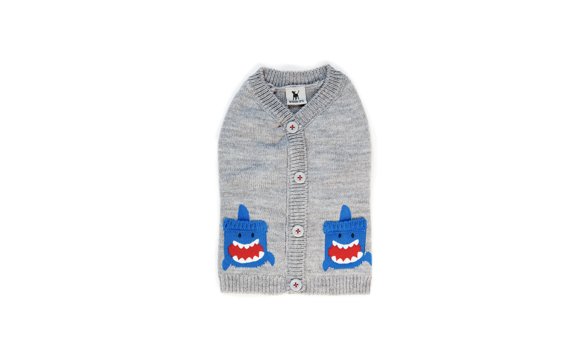 The Worthy Dog Shark Cardigan