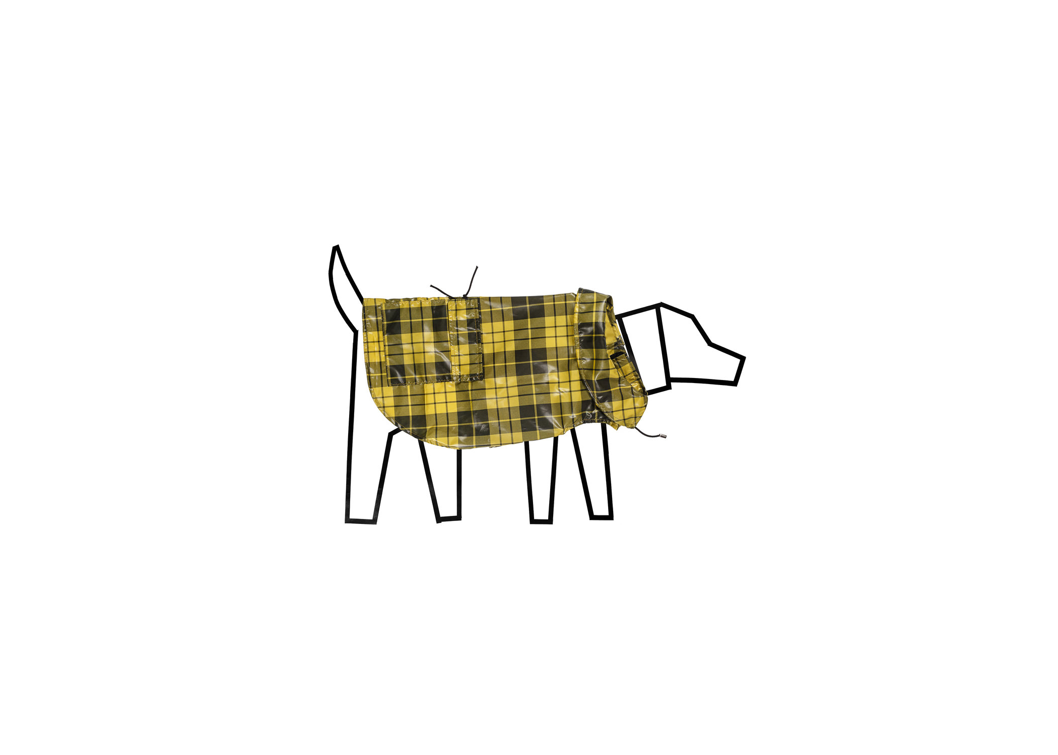 Ware of the Dog Plaid Anorak in Yellow
