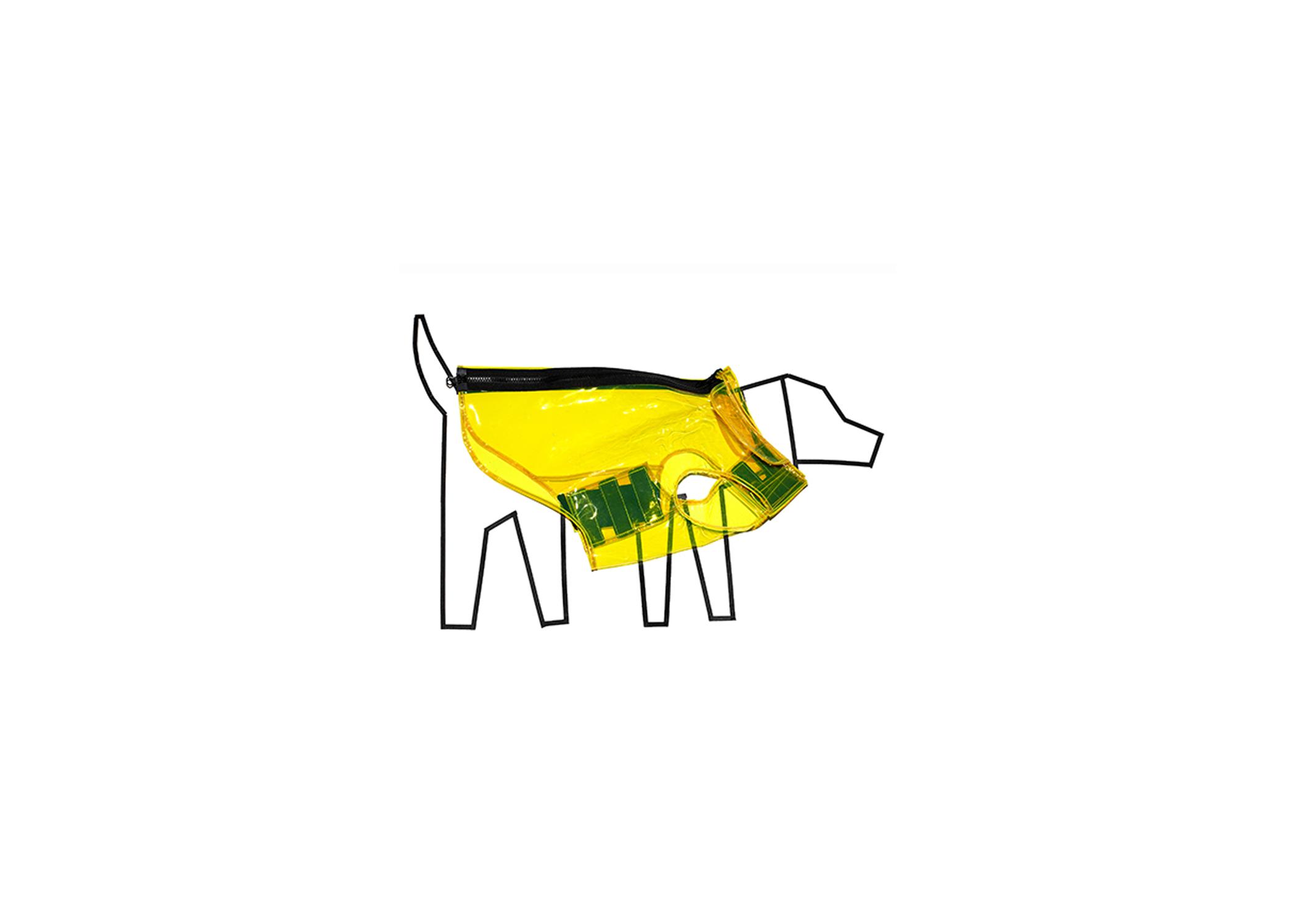 Ware of the Dog Yellow Vinyl Raincoat