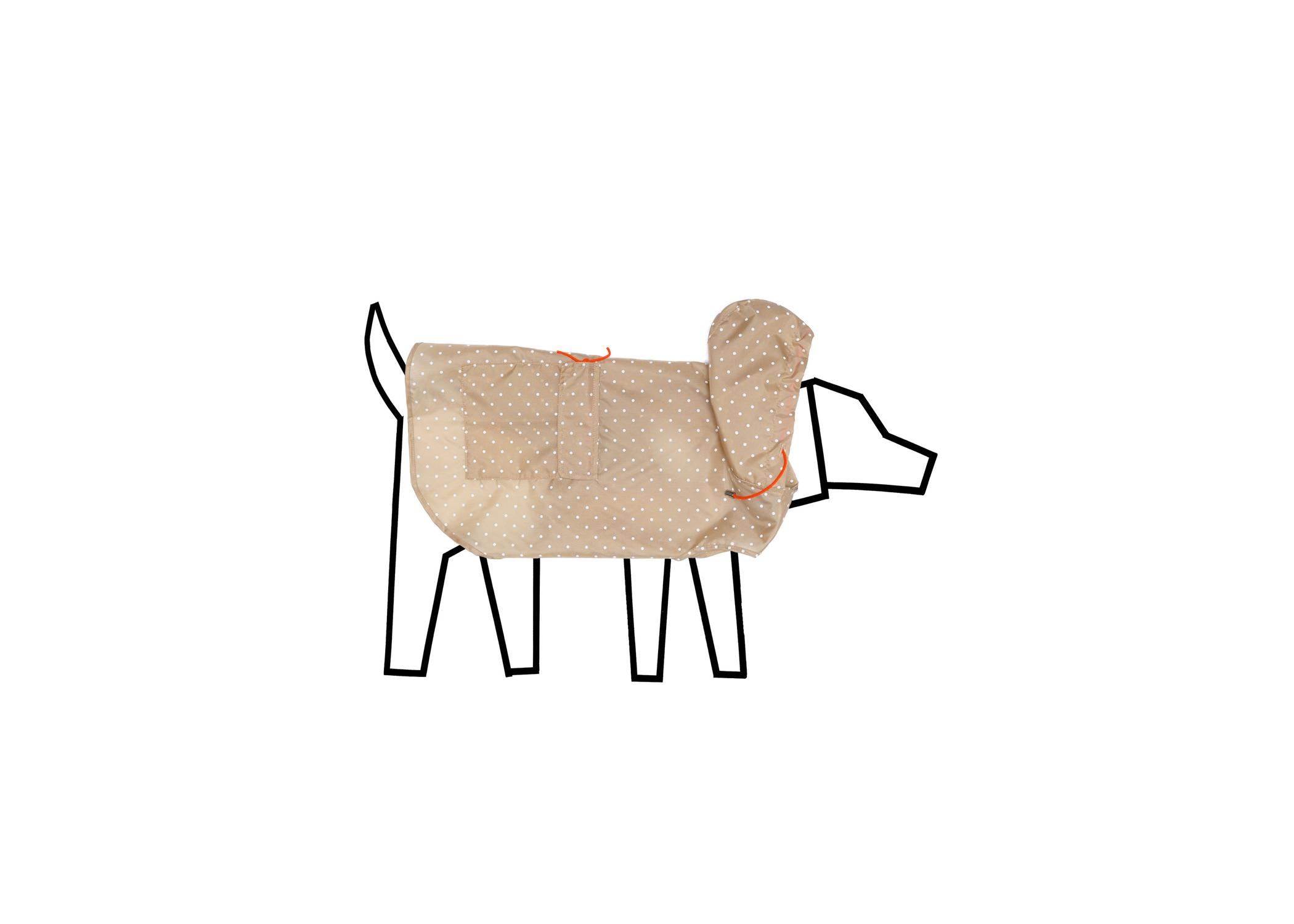 Ware of the Dog Polka Dot Hooded Raincoat