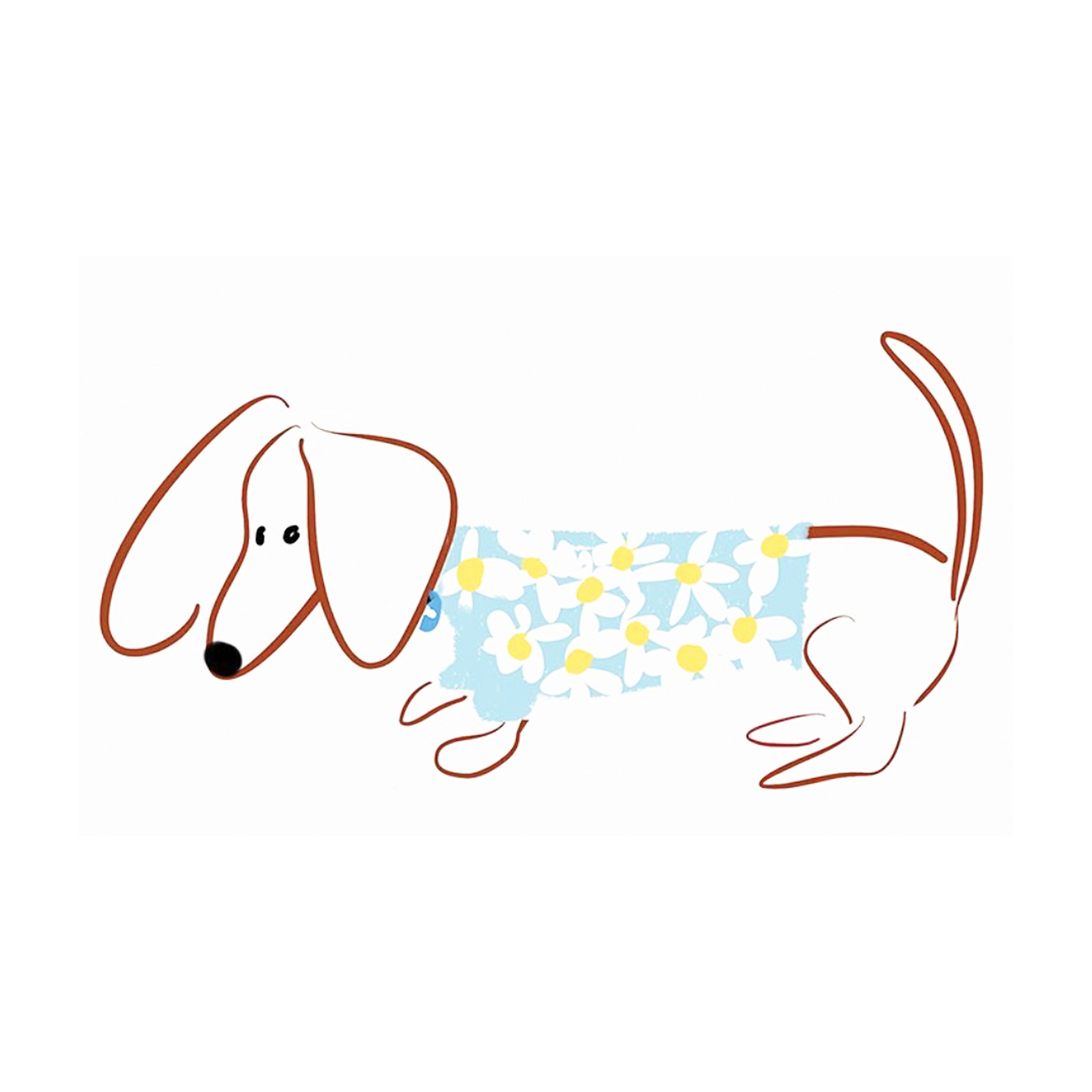 Illustration of Gilmore the Dachshund©