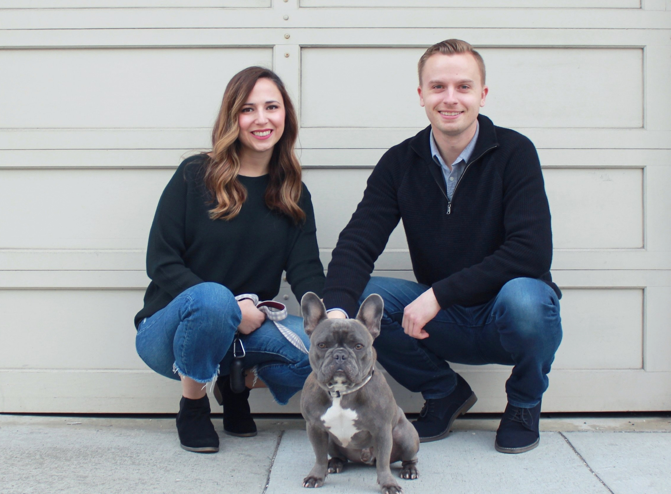 Jasmine Daniel and Justin Yonan of Neptune & Co. with their dog, Neptune