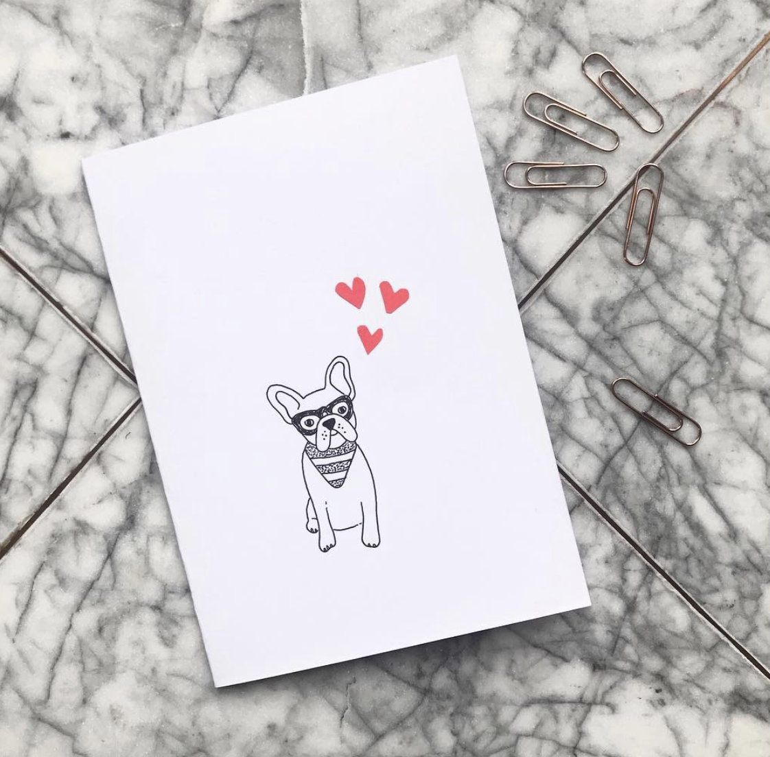 Florence and Ottie Frenchie Illustration