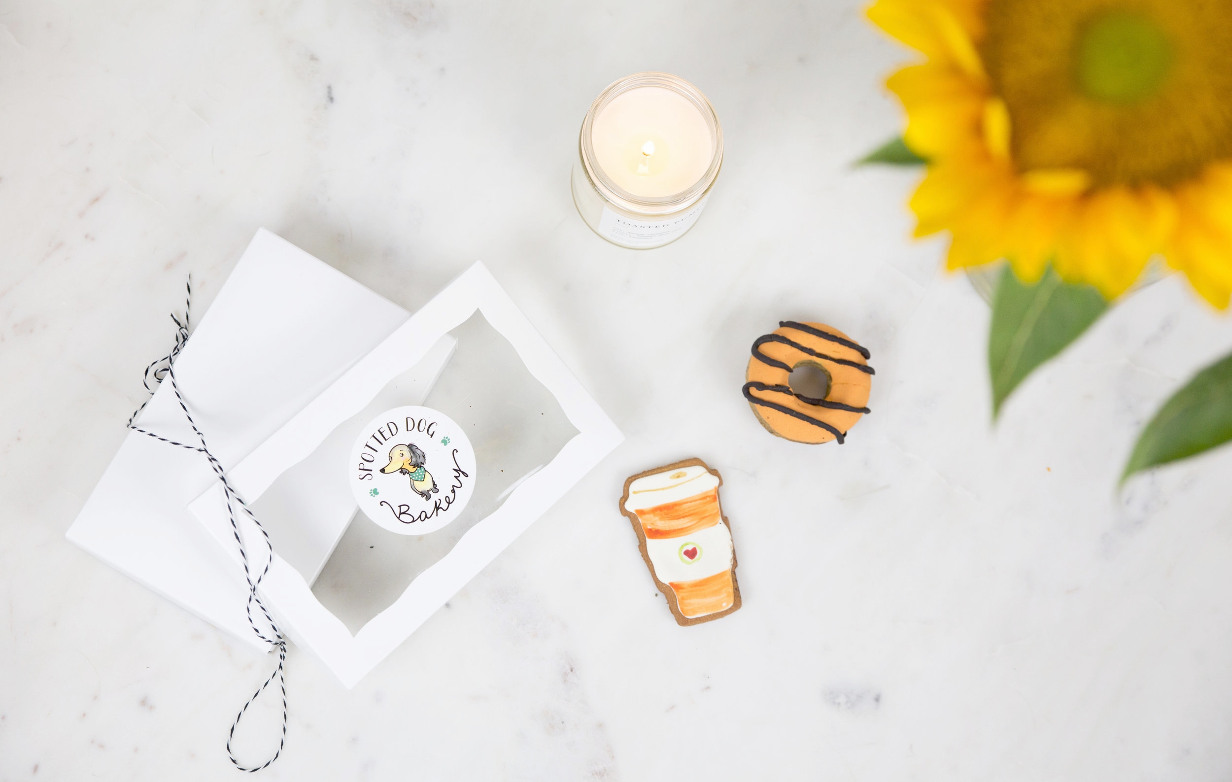 Spotted Dog Bakery Fall Dog Treats Pumpkin Spice Latte and Donut on The Dapple Dog Lifestyle Site
