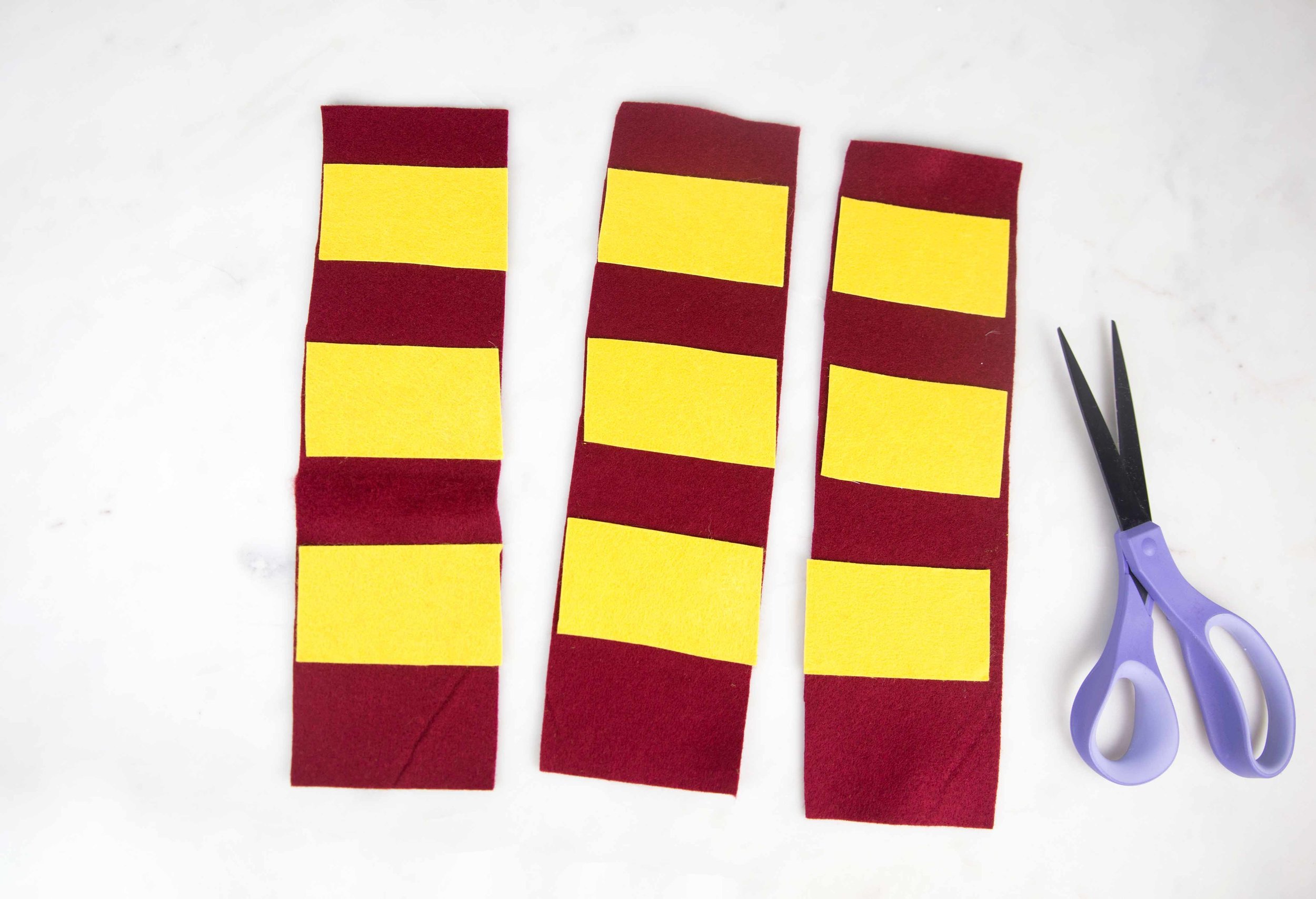 DIY Gryffindor Dog Scarf