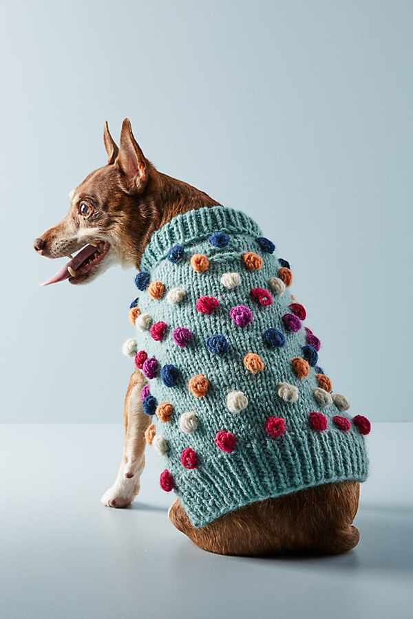 Pom Pom Dog Sweater - The Best New Dog Items at Anthropologie
