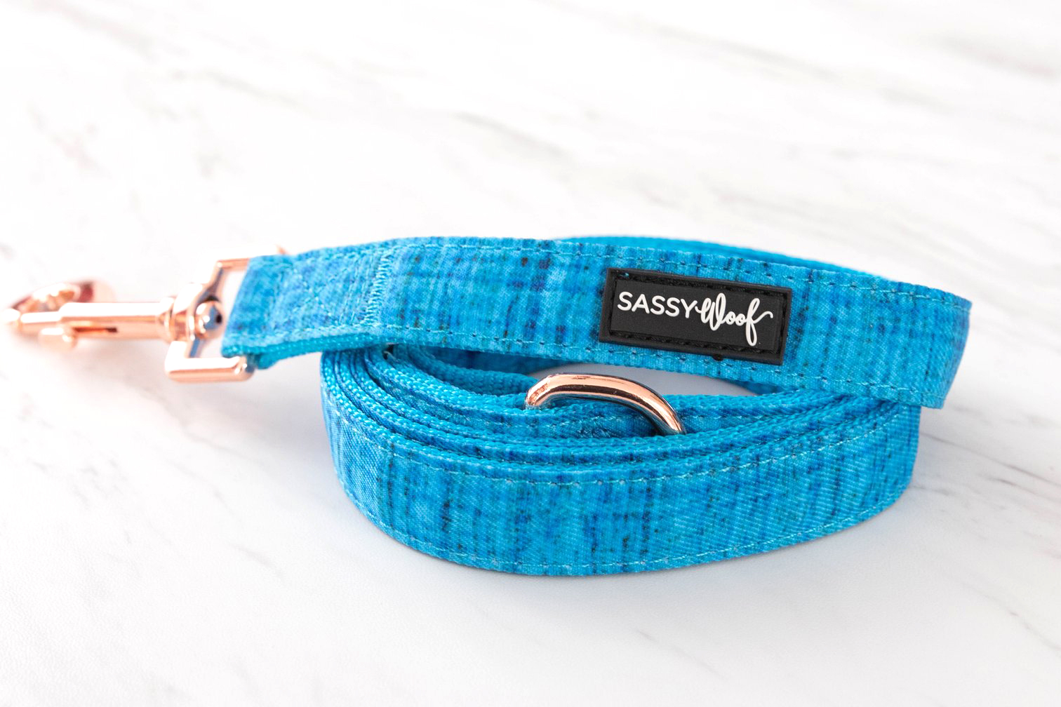 Marin Bleu Leash By Sassy Woof on The Dapple: Dog Lifestyle Site