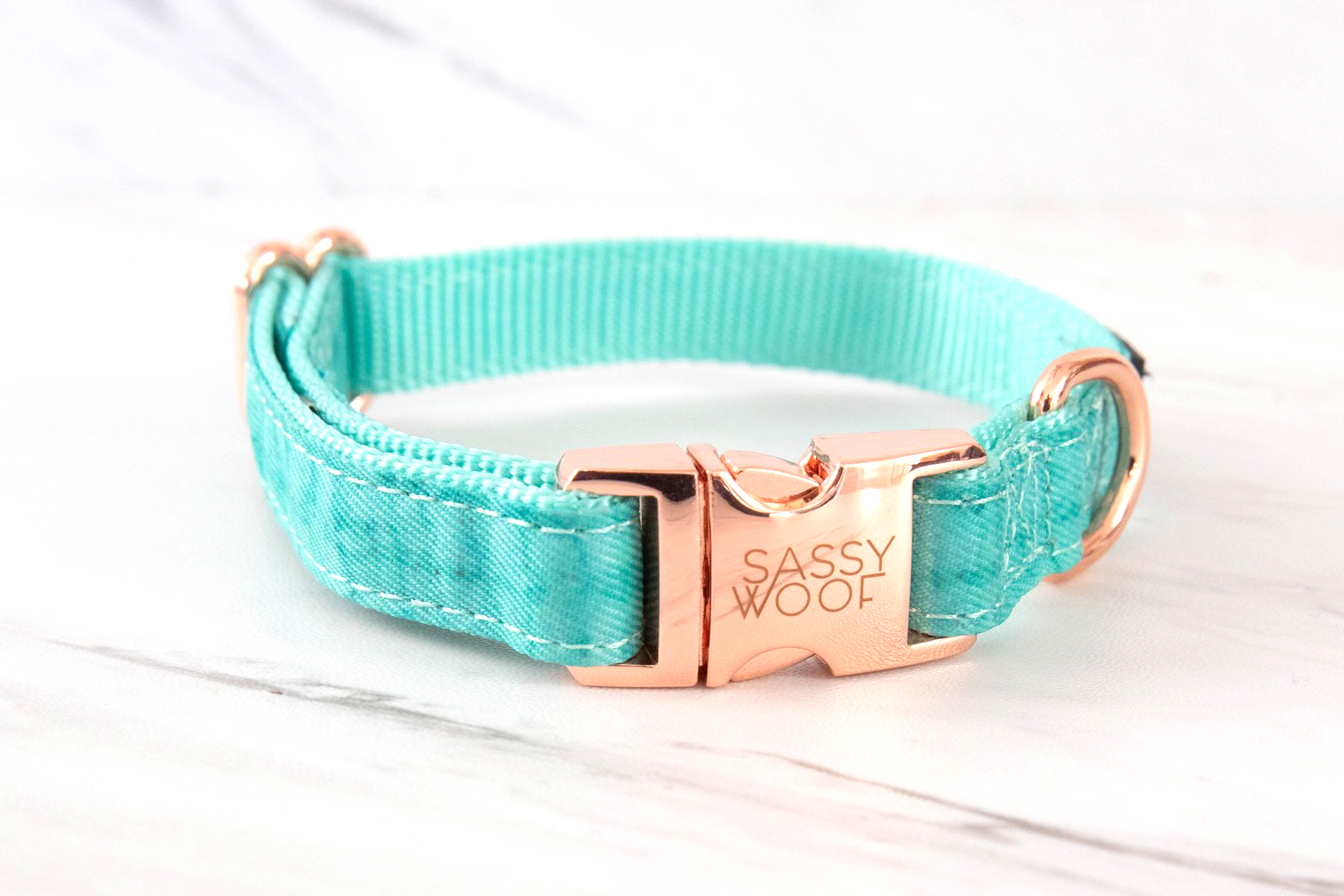 Wag Your Teal Dog Collar By Sassy Woof on The Dapple: Dog Lifestyle Site