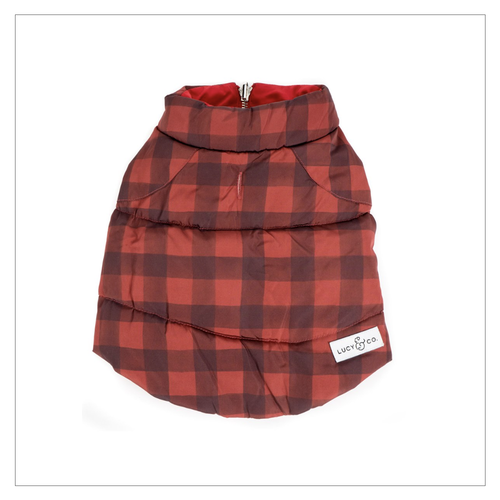 Lucy and Co. Buffalo Plaid Reversible Dog Vest
