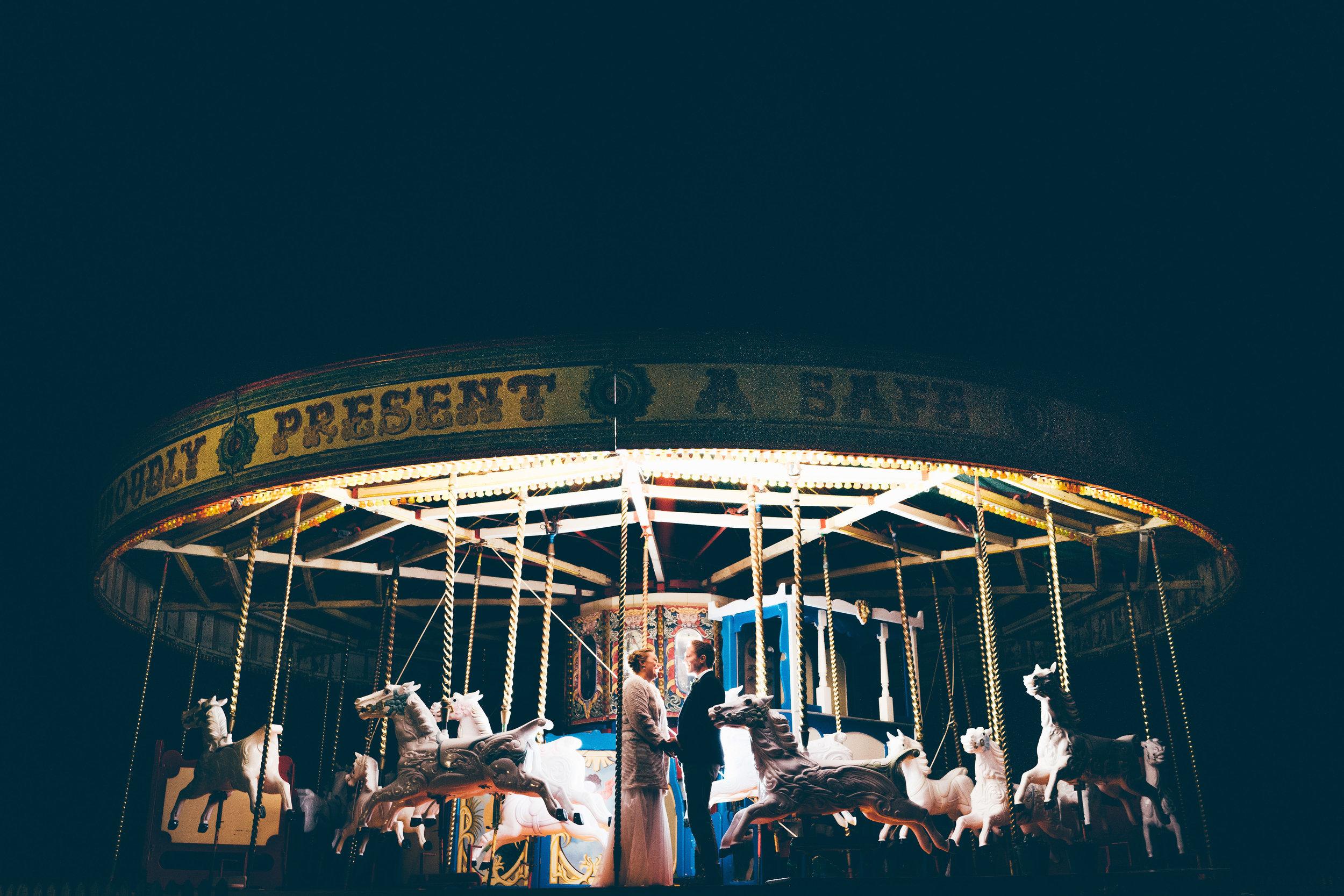 Late night carousel photo