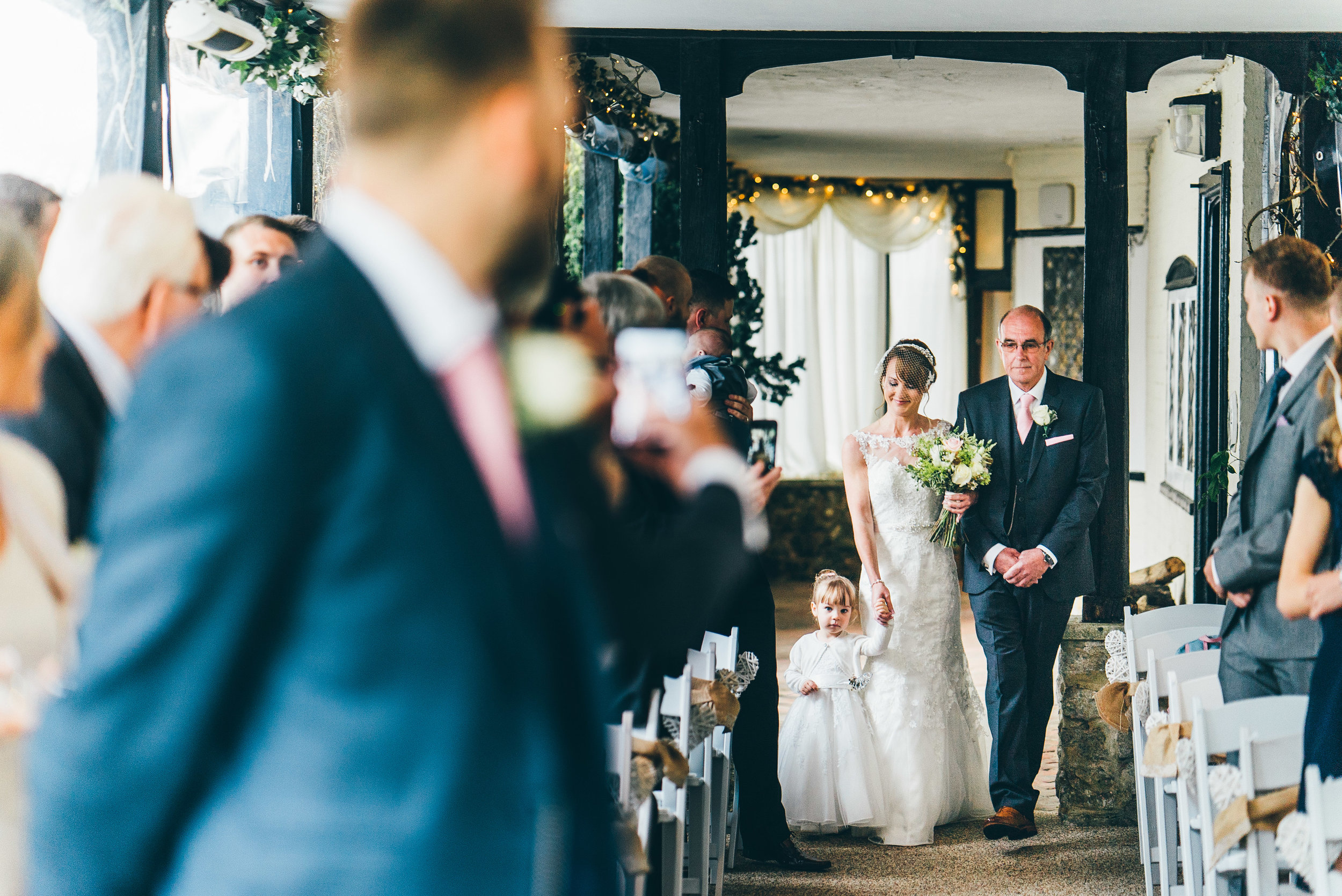 The ceremony at Hayne House