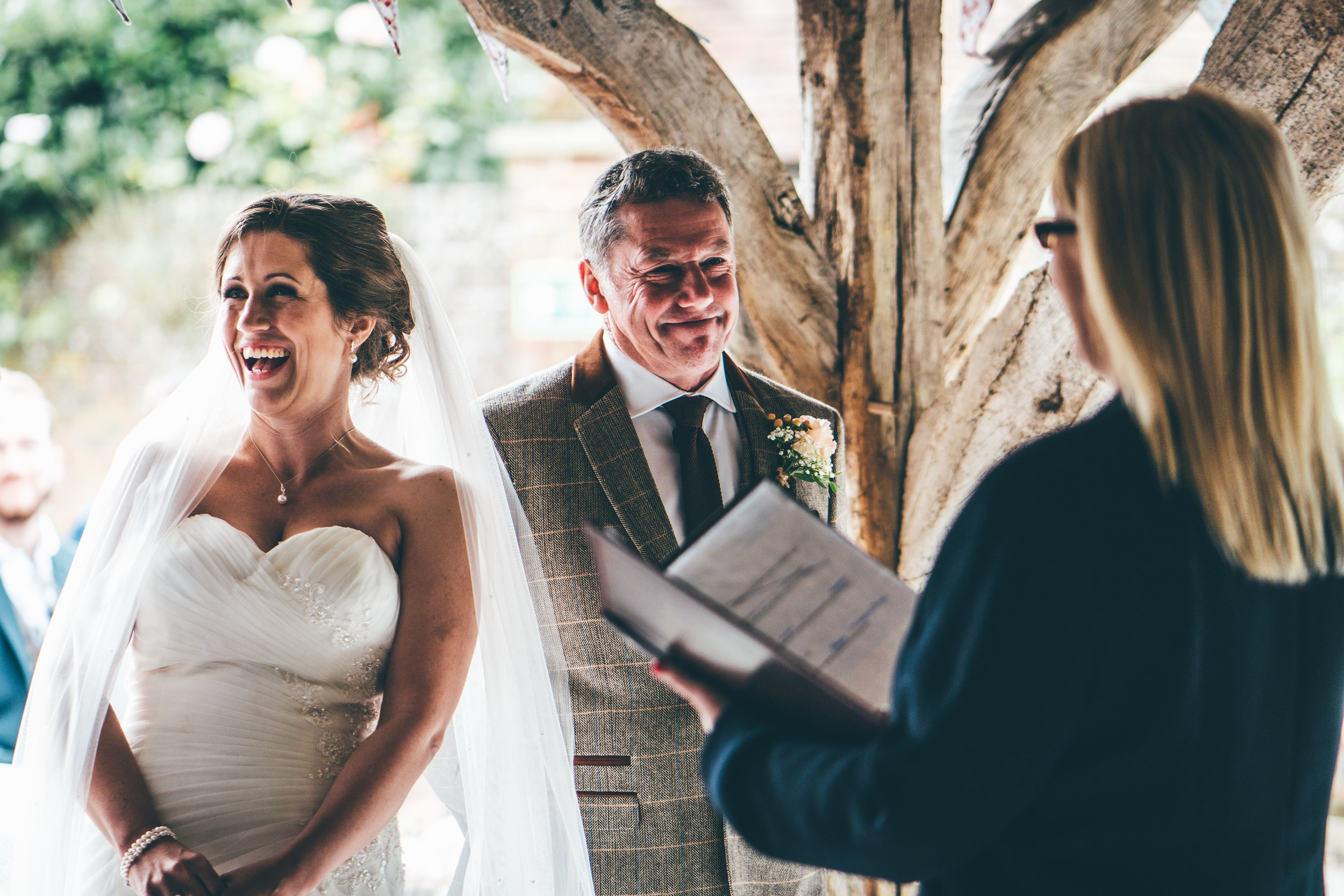 Ceremony at Winters Barns