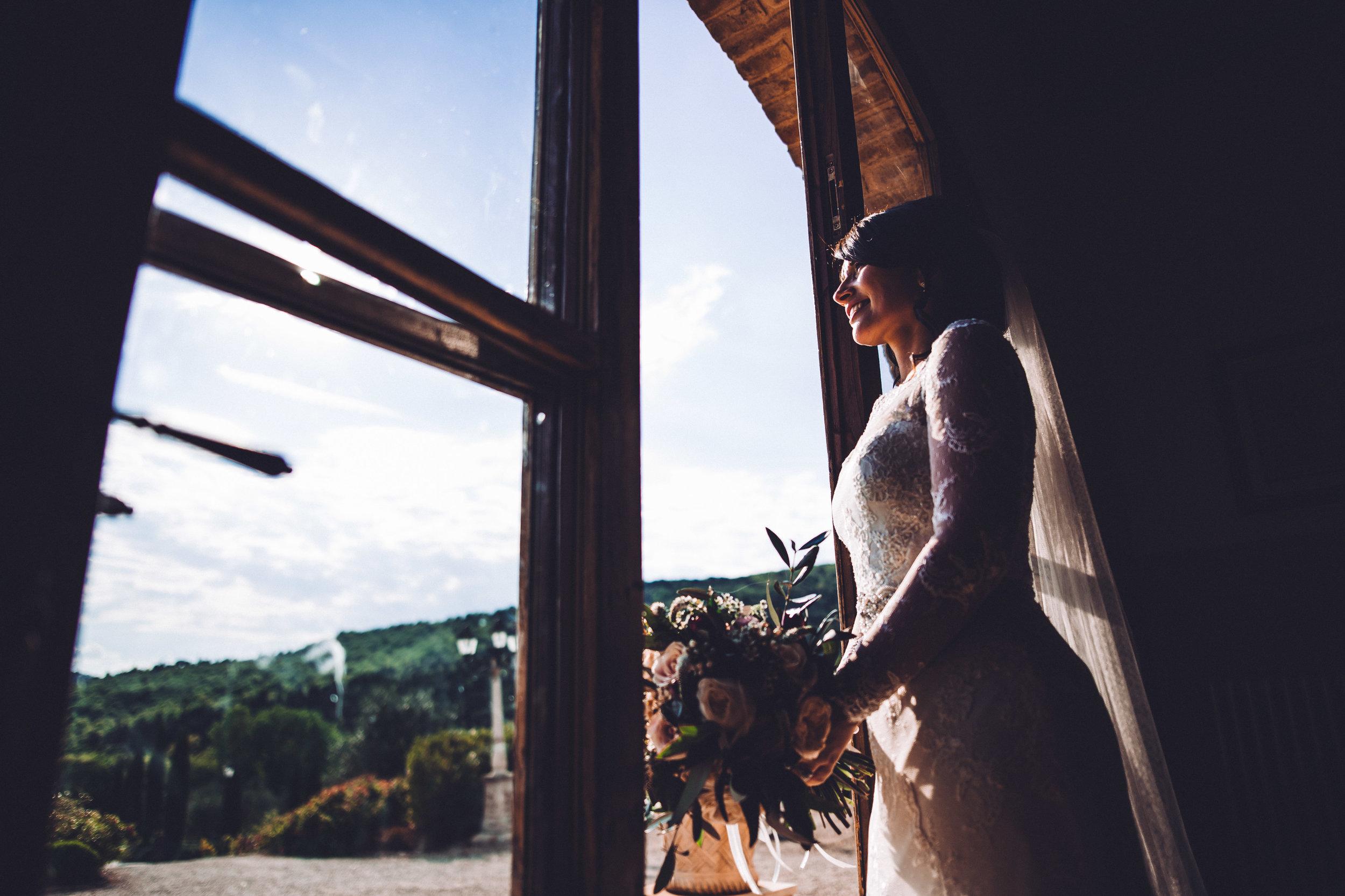 Bride at Villa Baroncino
