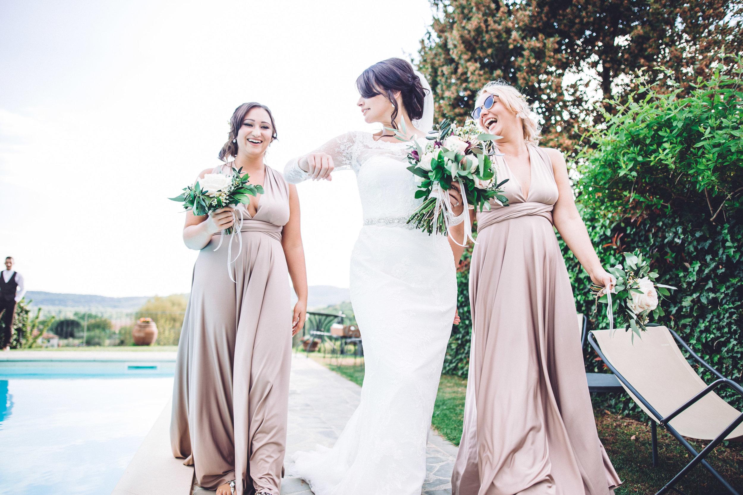 The girls at Villa Baroncino