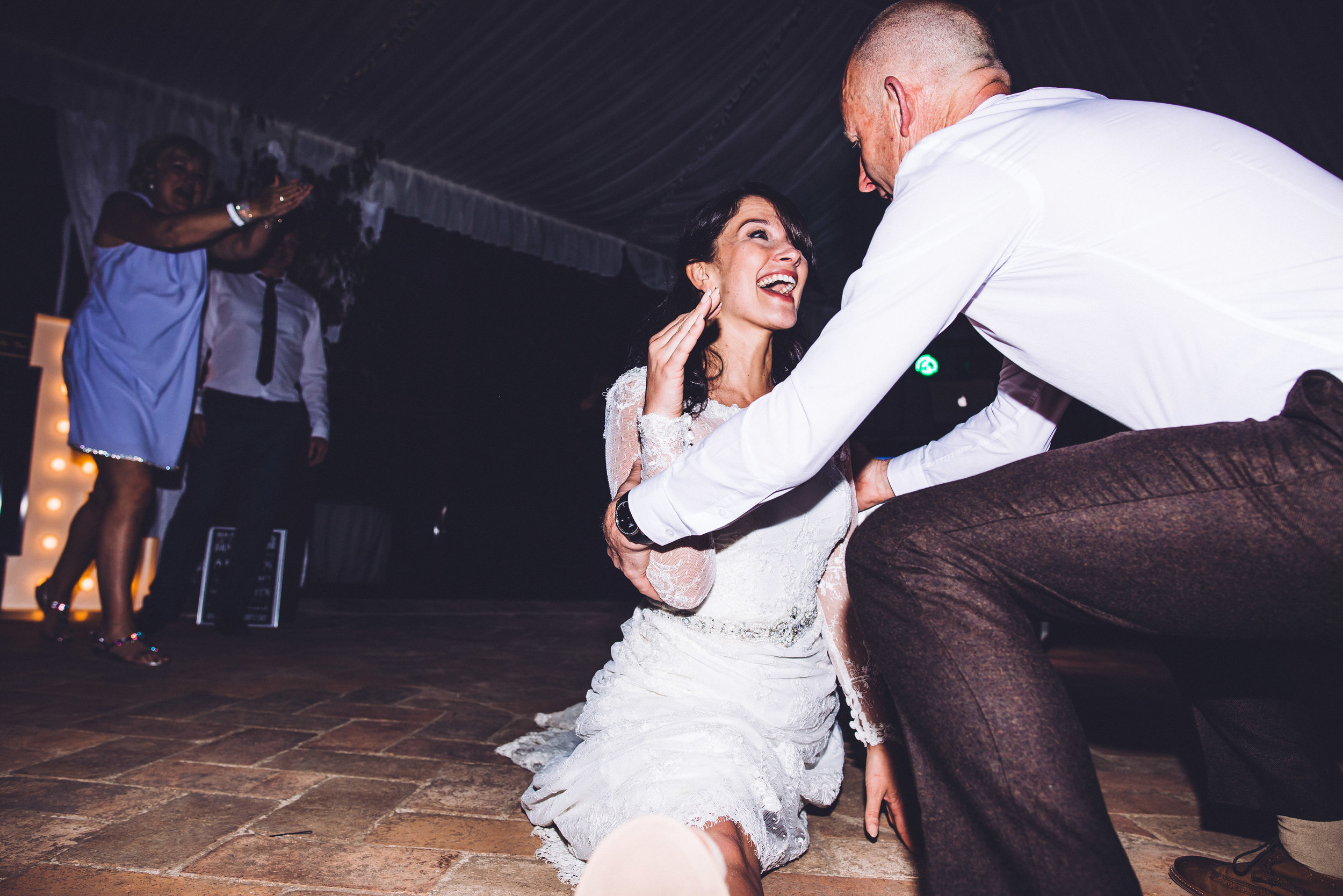 Father of the bride dance at Villa Baroncino