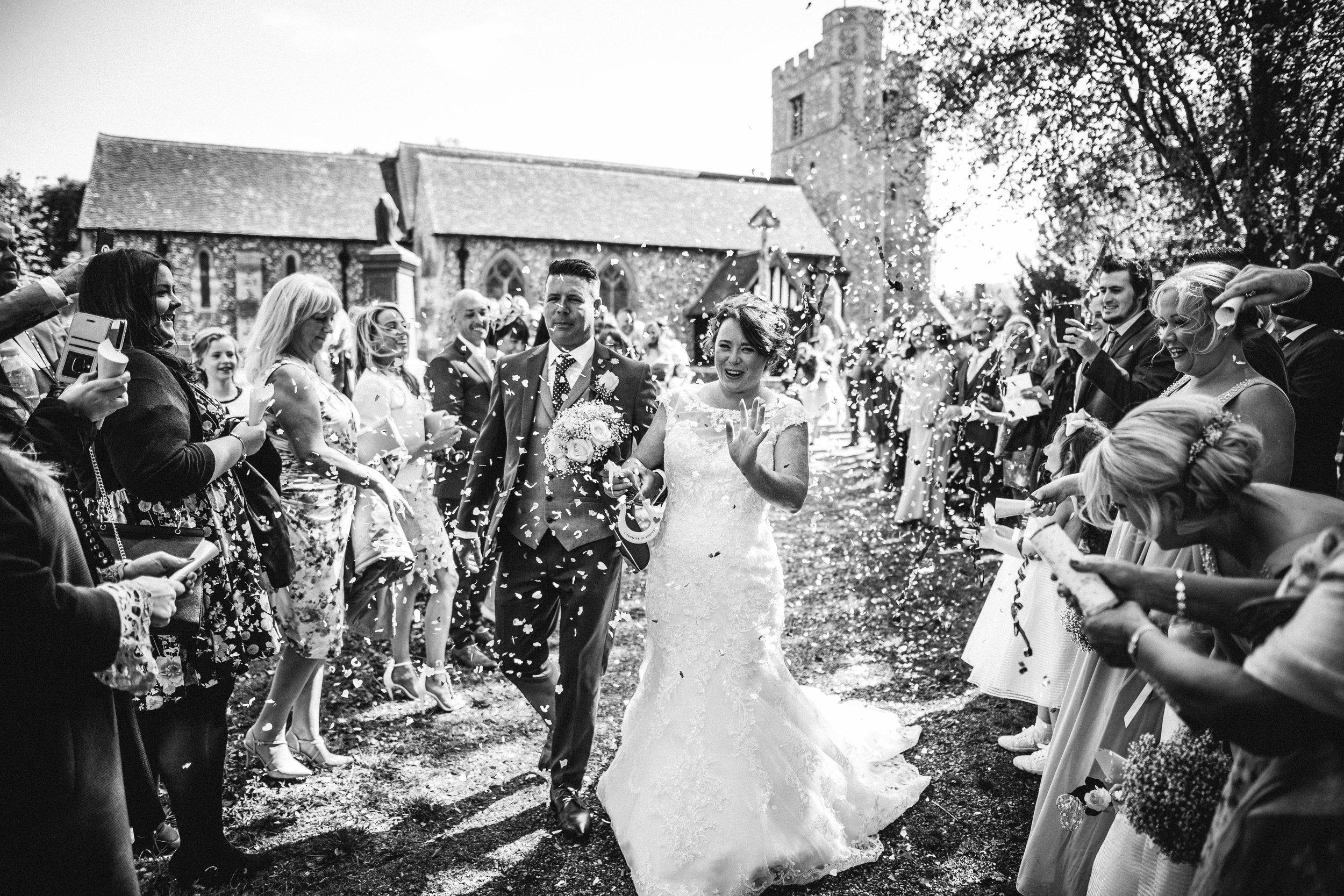 Confetti at a London Wedding