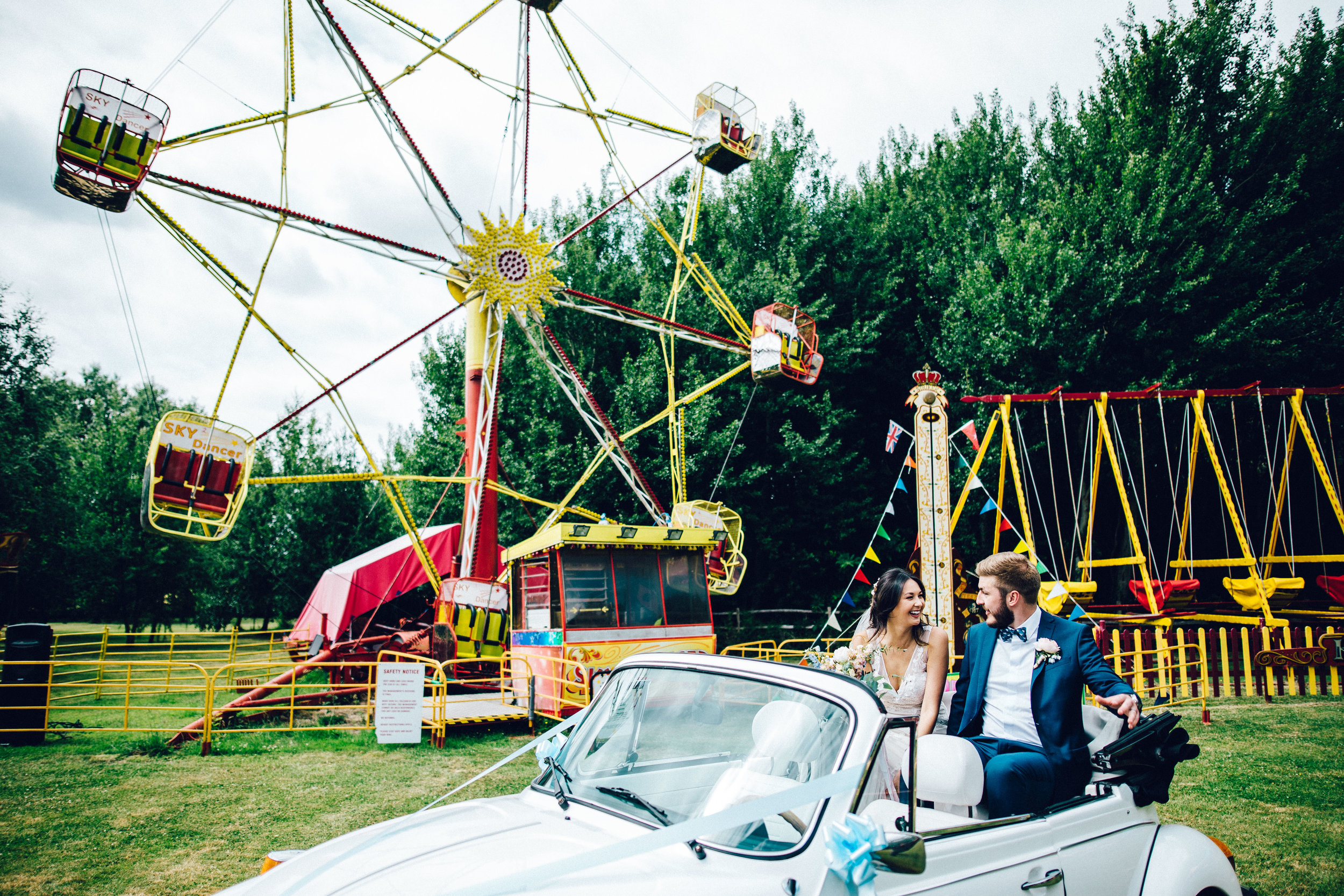 Vintage care and vintage fairground at Marleybrook House