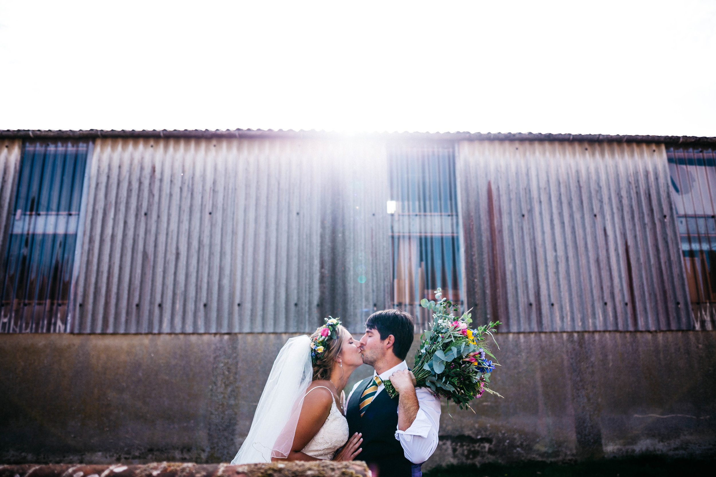 Sunflare bride and groom at The Night Yard