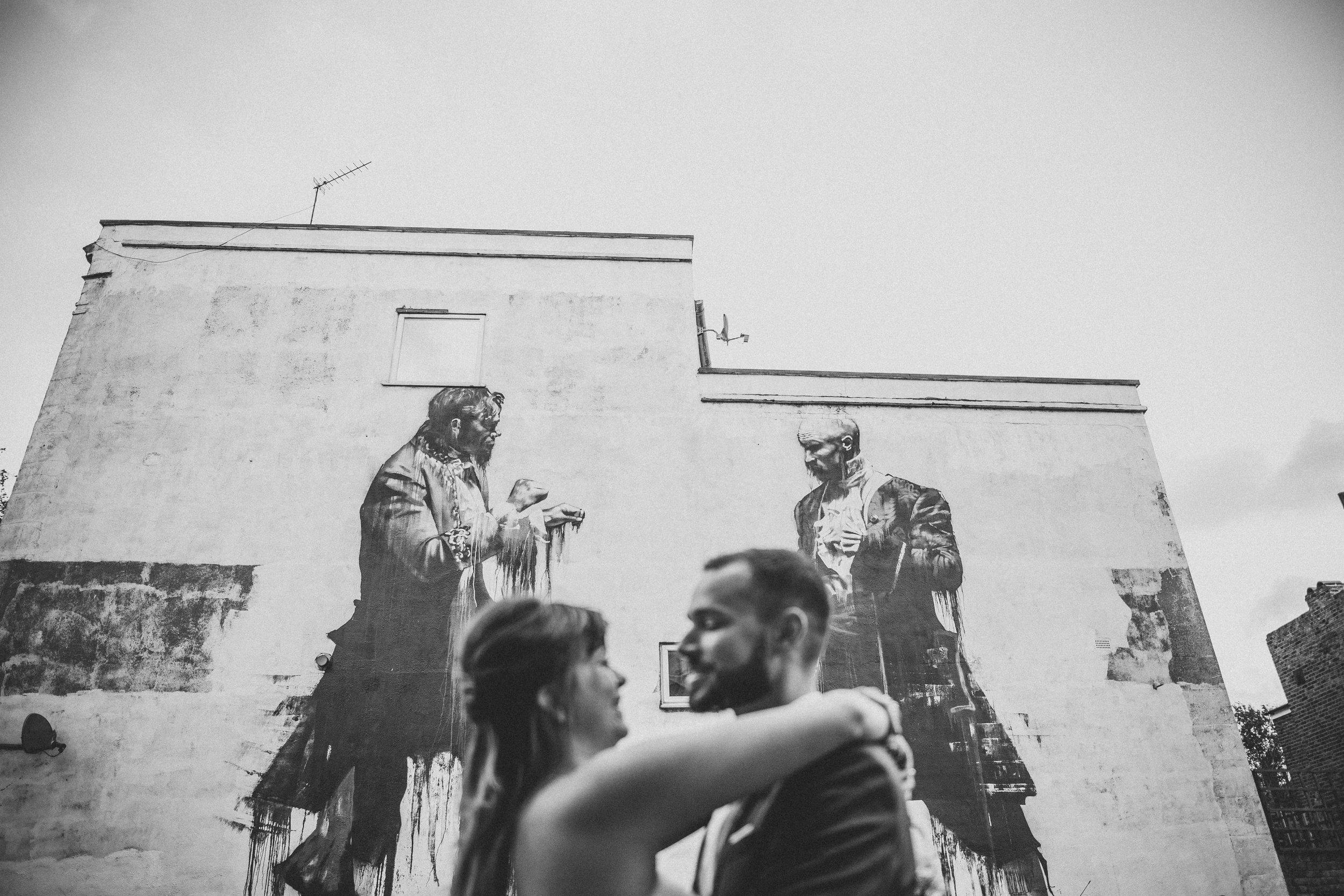 Cool wall wedding