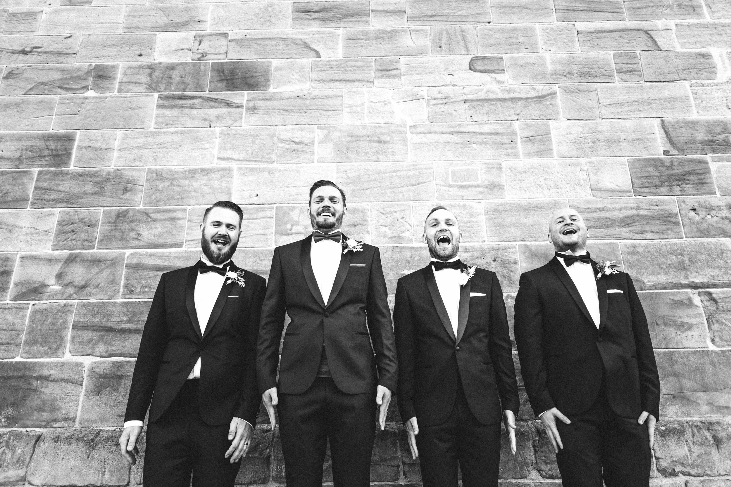 The groom and his ushers