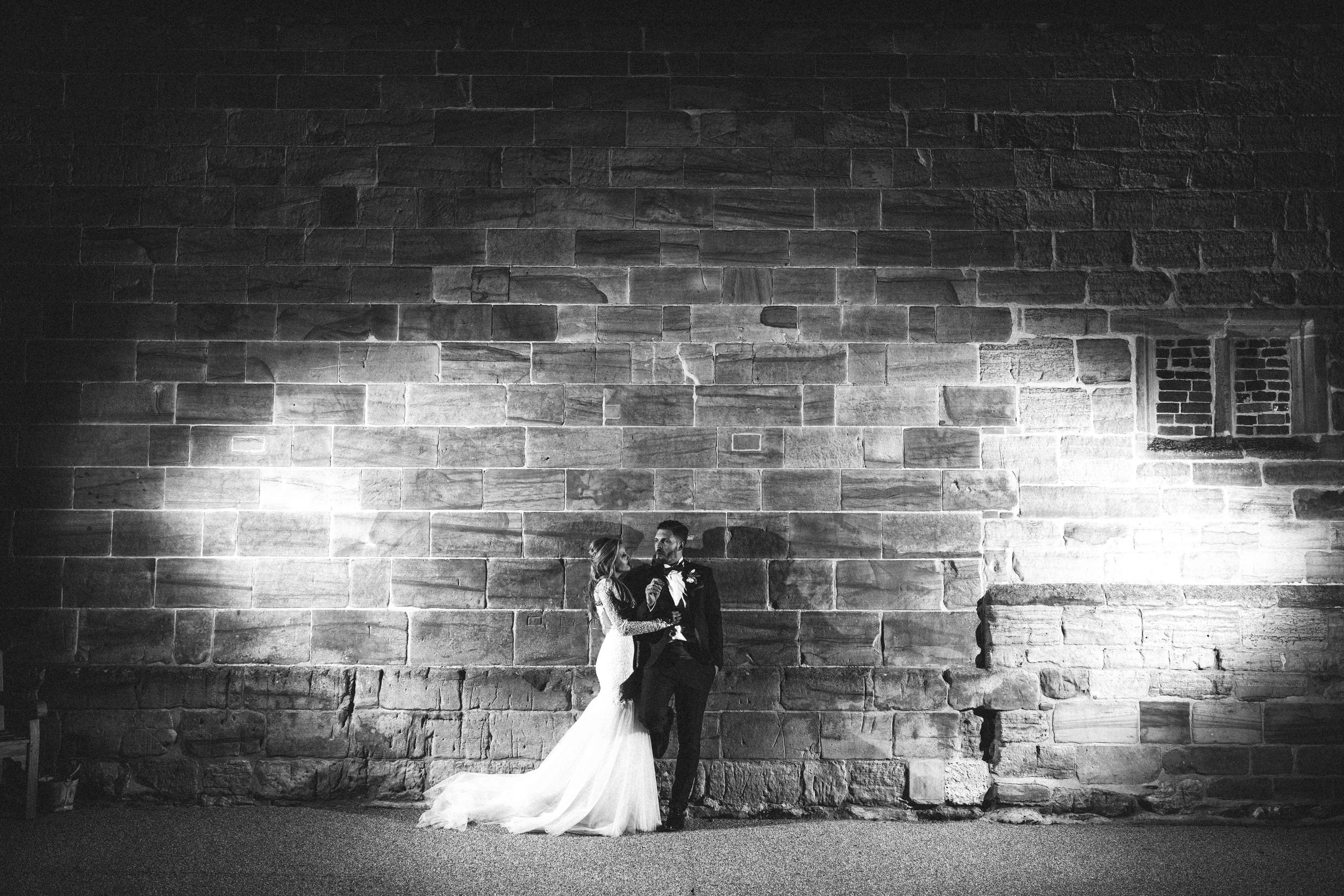 The bride and groom at Hendall Manor Barns